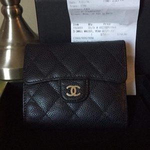 Authentic Chanel Small Wallet Caviar